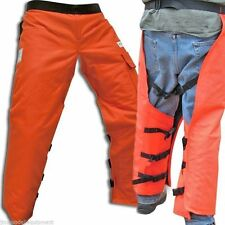 "Chain Saw Safety Wrap Chaps, Orange,35"" Leg,Osha Approved,Forester Brand"