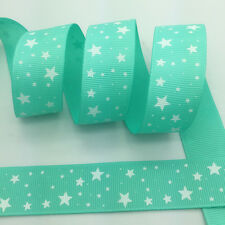 NEW~ 5 Yards 1Inch 25mm Wide Printed Grosgrain Ribbon Hair Bow DIY Sewing #A092