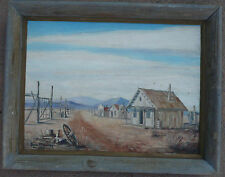 $295 OR BEST!! Vintage oil painting Nice Folk Realism Rural Townscape McKinney