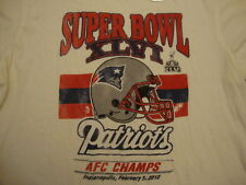 NFL NEW New England Patriots SOFT Distressed junk food Super Bowl T Shirt L