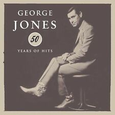 50 Years of Hits by George Jones (CD, Nov-2004, 3 Discs, Bandit Records)