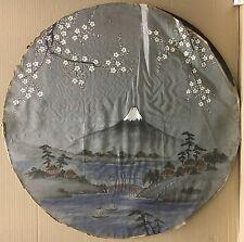 JAPAN - SEIDENMALEREI UM 1920 - TONDO - UNSIGNIERT - 66 CM DURCHMESSER