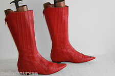 Mi Bottes BASIC By PACO HERRERO Cuir Rouge T 37 BE