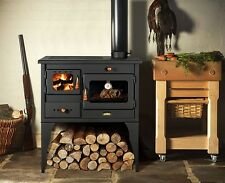 New 10 kW.Cooking Wood Burning Stove Legs Oven Cooker Multifuel  Cast Iron Top
