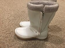 Helly Hansen Winter Waterproof White Leather Fur Boot Lined size 6.5