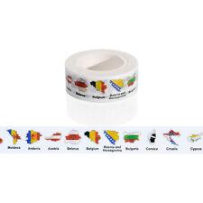 15mmx10m Country Flag Washi Tape DIY Scrapbooking Sticker Masking Tape,1pcs