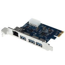 Gigabit Ethernet LAN 3 porta USB 3.0 a scheda PCI-E PC Adattatore Convertitore