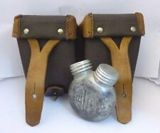 Russian, Mosin Nagan WWII, Ammo & Gun Oil Pouch,Oil Can, Brown Leather, Marked .