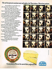 PUBLICITE ADVERTISING  1973   PREVAL   camembert Normand