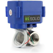 """U.S.Solid Motorized Ball Valve- ½"""" DN15 Electrical Ball Valve DC9-24V 2 Wire"""