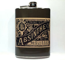 Absinthe Vintage Retro Liquor Label Flask 8oz Stainless Steel Drinking Flasks