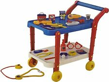 KIDS CHILD MEDICAL CARE TROLLEY CART TOY KIT MAINAN DOCTOR EDUCATIONAL GAMES NEW