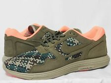 Nike Mens Lunar Flow Woven QS Medium Olive Green/Black-Bamboo 526636-207 Sz 11.5