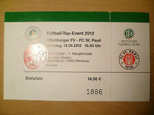 TICKET-Football Top Event 2012- 18 AUGUST 2012- OFFENBURGER FV v ST. PAULI