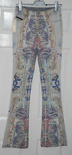 Diesel Black Gold Women's CERESS Flared Printed Designer Bloggers Jeans Size 24