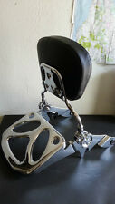 2pt Docking kit + Backrest Sissy Bar Ghost Luggage Rack Harley Davidson Touring