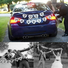Just Married Garland Wedding Banner Car Bunting Western Venue Party Decor SignES