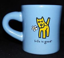 Life is Good Rocket the Dog With Daisy Like What You Do Heavy Diner Coffee Mug