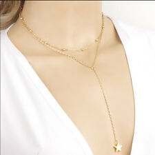 Women Star Tassel Multilayer Necklace Choker Clavicle Chain Jewelry Accessories