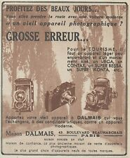 Z9901 Maison DALMAIS - Super IKONTA -  Pubblicità d'epoca - 1937 Old advertising