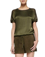 Vince  Suede Drawstring Boxer Shorts Hunter Green M NWT SRP$425 8 10
