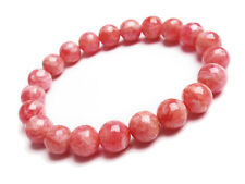 Natural Argentina Rose Rhodochrosite Gemstone Beads Bracelet 9mm