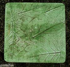 """Gostatue leafy leaf design  paver concrete plastic mold mould 16"""" x 16"""" x 1.25"""""""