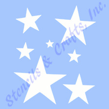 "STAR STENCIL MANY STARS CELESTIAL STENCILS TEMPLATE TEMPLATES CRAFT NEW 6"" X 5"""