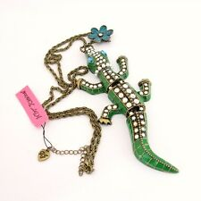 Genuine Betsey Johnson Jointed Alligator Crocodile Necklace