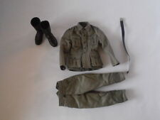 1/6 DRAGON MG42 MACHINE GUN EASTERN FRONT FIELD GREYS, BOOTS, BELT LOT