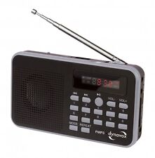 RADIO FM/MP3 PORTABLE AVEC PORT USB ET SLOT CARTE SD RECHARGEABLE VIA USB