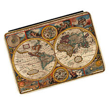 Vintage Old World Map #3 Travel Globe iPad Mini 1 2 3 PU Leather Flip Case Cover