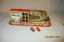 Vintage 1950's TECHNOFIX LIFT GARAGE play set GERMANY