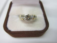 GORGEOUS ESTATE 14 KT GOLD 1.01 CTW CHAMPAGNE BROWN DIAMOND RING !!!!!!!!!!