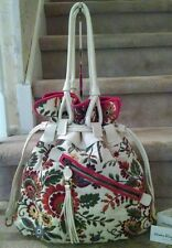 Salvatore Ferragamo Canvas tapestry embroidered Magnolia bag- Gorgeous!