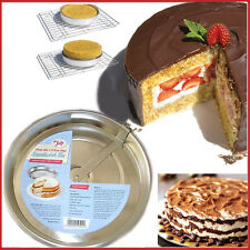 "TALA Originals 8"" 20CM Sandwich Tin with Cutter Sponge Cake Round Baking Tins"