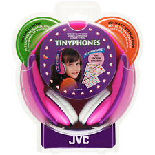 JVC Girls Tiny Phones Pink/Purple Headphones, decorated with supplied stickers 4