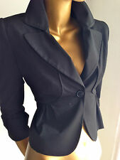 Designer BASQUE peplum style lapel cropped jacket sz10