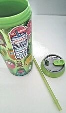 Cool Gear 16oz. Drink Can w/Twist-Off Lid Double Wall Insulated New Green Owls