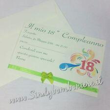 INVITO PER DICIOTESSIMO Compleanno 18° biglietto festa inviti con busta GRAFICA