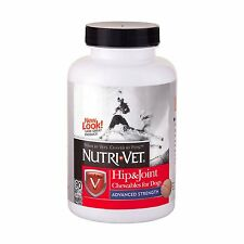 Nutri-Vet Hip and Joint Advanced Strength Chewable Tablets for Dogs, 90-Count ,