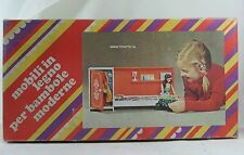 Barbie sized clone wooden bedroom mod furniture set from '70's Rare!