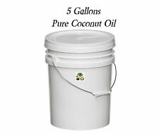 Pure All Natural Coconut Oil  5 Gallon Bucket BIG BULK SAVINGS