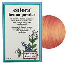 Colora Henna Powder All Natural Hair Color 60g Light Brown