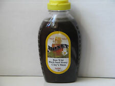 Raw Wild Natural Unpasteurized Honey With 100% Black Seed Oil 1 LB