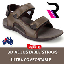 Foot Bio-Tec Mens Orthotic Sandals Arch Support Adjustable Strips Pain Relief
