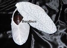 100 DISPOSABLE SHOE COVERS NON-SKID/ MEDICAL/ XL TO SIZE 15 BRIGHT WHITE
