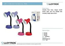 Lloytron Small 40W Flexi Lamp Assorted Colours Study Office Home Bedroom New