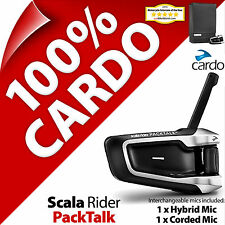New Cardo Scala Rider PackTalk Bluetooth Motorcycle Helmet Intercom Headset