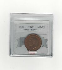 **1942**Great Britain, Half Penny, Coin Mart Graded **MS-62**